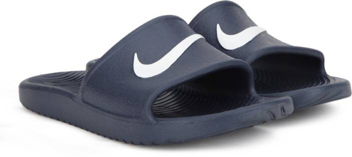 8537d0778cd9 Nike KAWA SHOWER SLIDE Flip Flops - Buy MIDNIGHT NAVY WHITE Color Nike KAWA  SHOWER SLIDE Flip Flops Online at Best Price - Shop Online for Footwears in  ...
