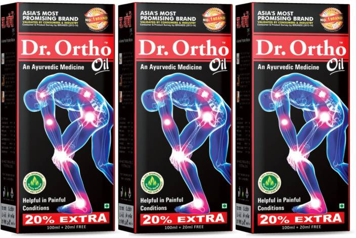 Dr. Ortho Ayurvedic Complete Joint Pain Oil 120ML (Pack of 3) Liquid