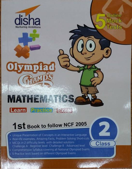 Olympiad Champs Mathematics Class 2 with 5 Online Mock Tests