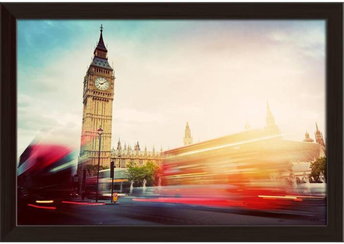 Artzfolio Red Buses In Motion And Big Ben The Palace Of
