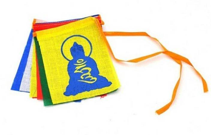 spydo Store Multicolor Tibetan Buddhist Bike Prayer Mantras Flag Buddha For  Bikes Royal Enfield Emblem