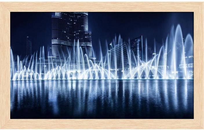 ArtzFolio Famous Fountain In Dubai At Night Evening Cityscape, UAE