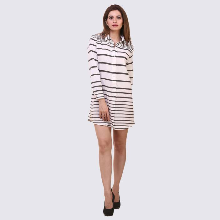 Hive91 Women Striped Casual Spread Shirt