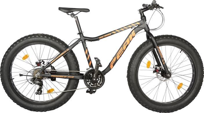 fd429d1dd26 Atlas Peak Big Boss 26 Inches Multi Speed Black 26 T Fat Tyre Cycle (21  Gear, Multicolor)