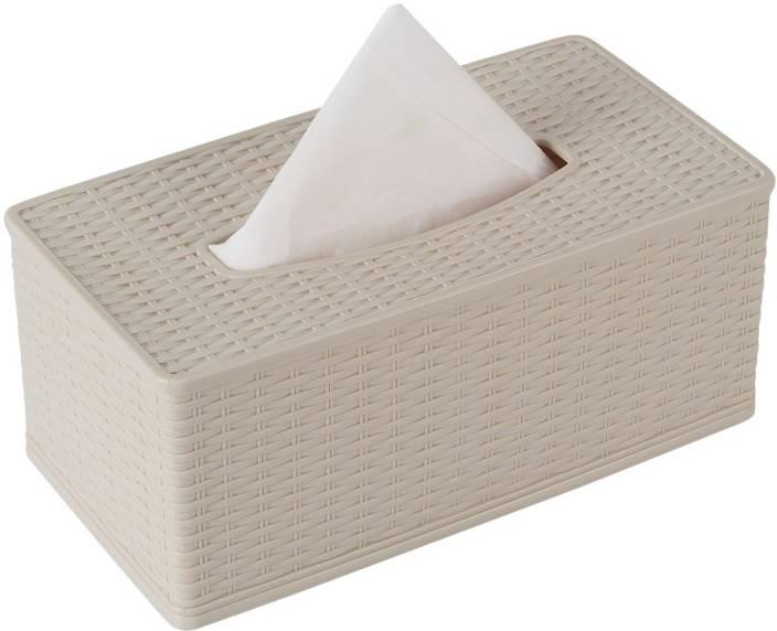 HOKIPO 1 Compartments Plastic Tissue Paper Napkin Dispenser Box Holder for  Car, Home, Office (Cream) (Cream) 398e92662967
