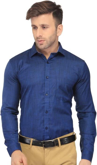5bab4c46e9f4 FabTag - Being Fab Men Solid Formal Dark Blue Shirt - Buy FabTag - Being  Fab Men Solid Formal Dark Blue Shirt Online at Best Prices in India