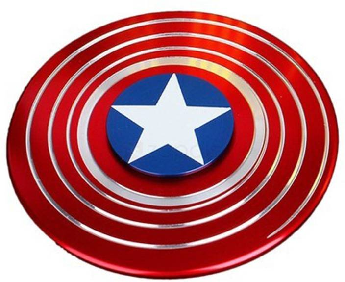 ACUTAS Captain America Shield Metal Hand Fidget Spinner Stress Reducer Anti Anxiety for Children / Adults