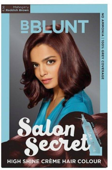 9f3fee646e0 BBlunt Salon Secret High Shine Creme Hair Color (Mahogany Reddish Brown  4.56)