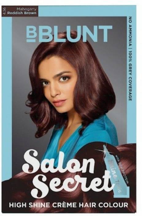 9f3fee646e0 BBlunt Salon Secret High Shine Creme Hair Color (Mahogany Reddish Brown  4.56)
