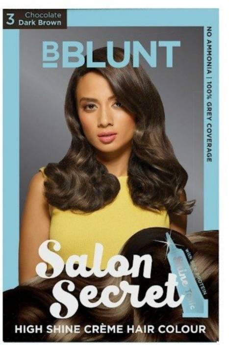 7890ed10cef BBlunt Salon Secret High Shine Creme Hair Color (Chocolate Dark Brown 3)