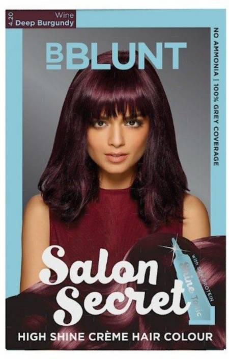 91b876b8d40 BBlunt Salon Secret High Shine Creme Hair Color (Wine Deep Burgundy 4.20)