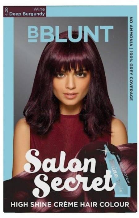 Bblunt Salon Secret High Shine Creme Hair Color Wine Deep Burgundy 4 20