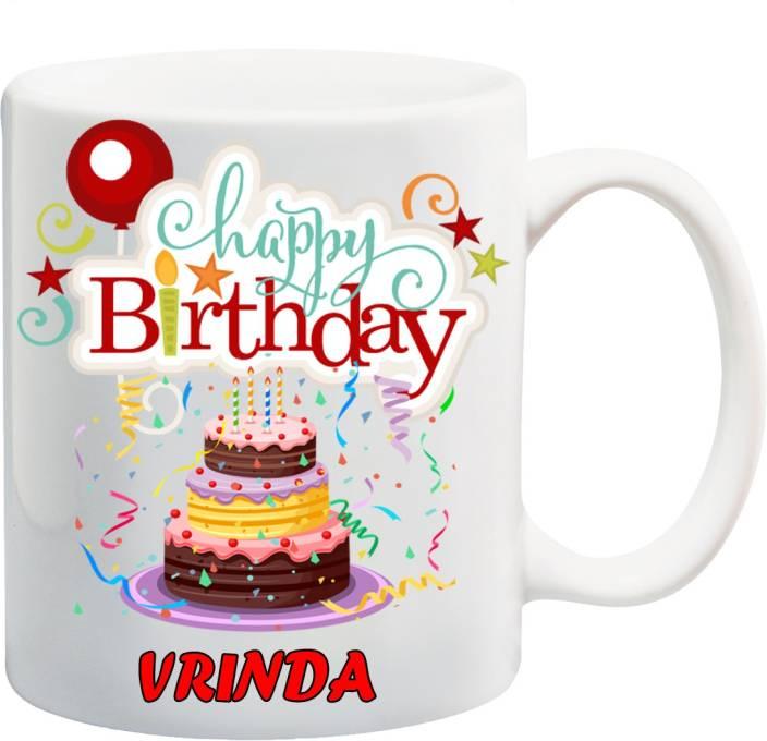 Awwsme Happy Birthday Celebration To Vrinda Coffee Ceramic Mug