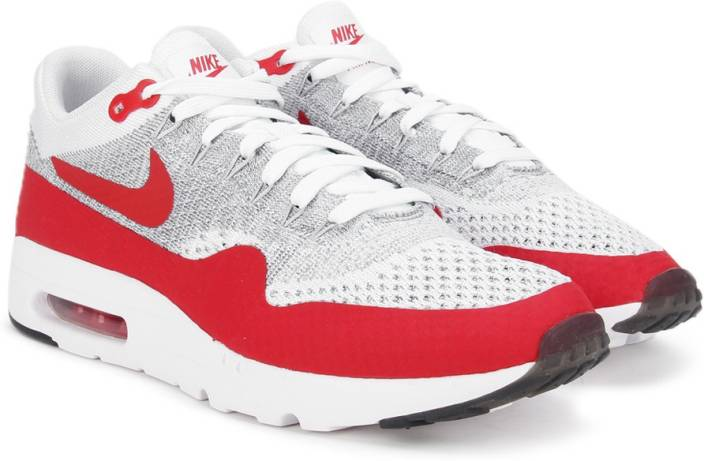 reputable site 022ca 0f963 Nike AIR MAX 1 ULTRA FLYKNIT Sneakers For Men (Red, White)