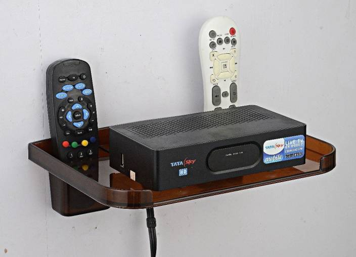 Naoe Set Top Box Amp Remote Holder Plastic Wall Shelf Price