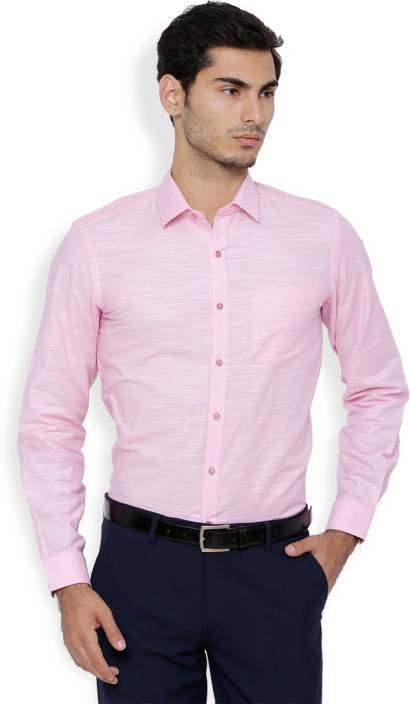 Black Coffee Men Solid Formal Pink Shirt - Buy Black Coffee Men ...