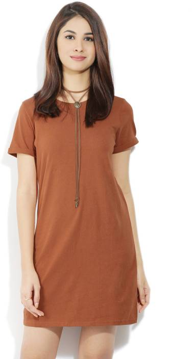Forever 21 Women T Shirt Brown Dress Buy Rust Forever 21 Women T