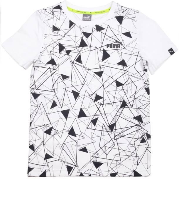Puma Boys Printed Cotton Polyester Blend T Shirt