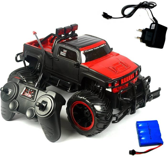 f4befd1a5f19 Techhark Chargeable Mad Racing Off Road Cross- Country Remote Control  Monster Truck Car (Red)