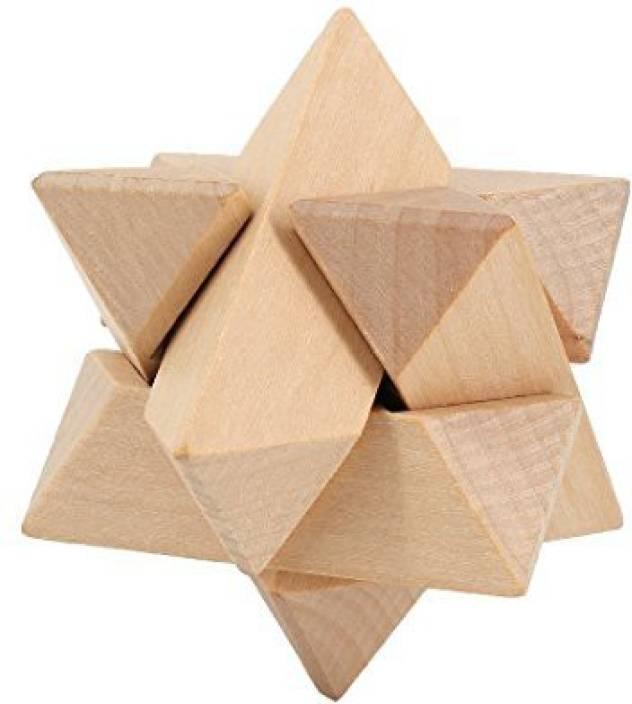 Multifit Wooden Burr Puzzle Binary Star Burr Lock Brain