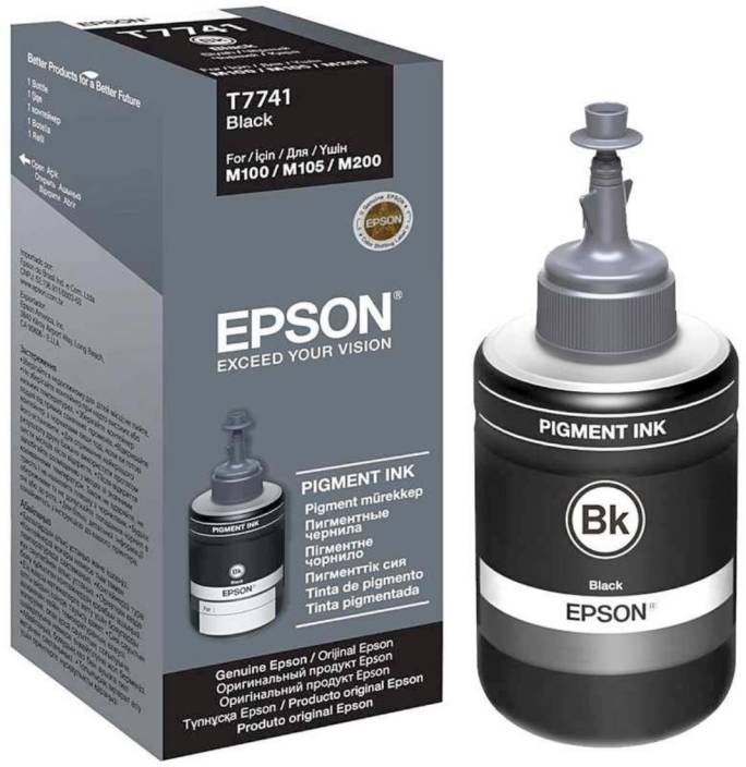EPSON T774 - Pigment Ink for Epson M100, M200, M105, M205 Printers Single  Color Ink Cartridge
