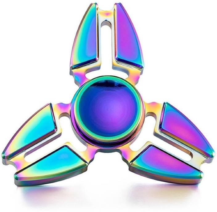 99 Gems STRESS RELIF METAL RAINBOW FIDGET SPINNER
