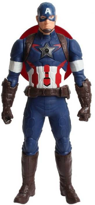 Emob Captain America Classic Titan Tech Ultimate Super Power Action Figure  Responds with Touch