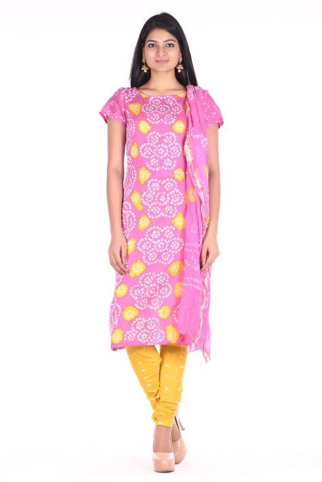 Soundarya Cotton Polyester Blend Printed Salwar Suit Dupatta Material