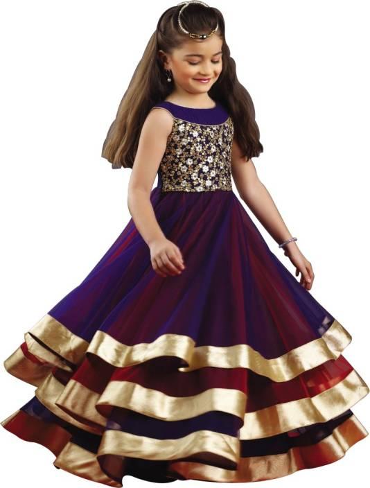 4b8bb87c2a5ef Wommaniya Impex Girls Maxi/Full Length Party Dress