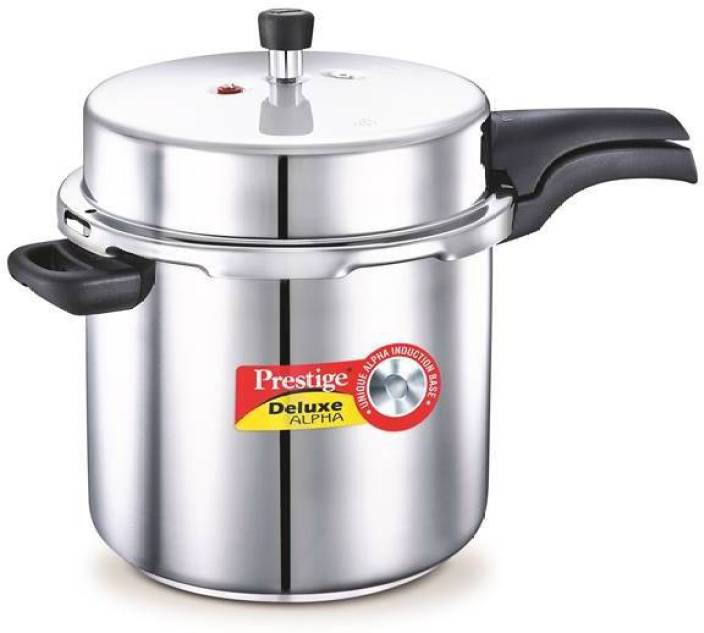 a4775888b2f Prestige Deluxe Alpha 10 L Pressure Cooker with Induction Bottom (Stainless  Steel)