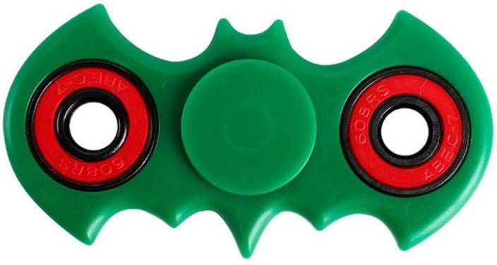 ShoppingKiSite Batman Bat shape Green Fidget Toy Hand Spinner – Stress Reducer, Durable Bearing Spinner with High Speed, Super Smooth and Well Balanced