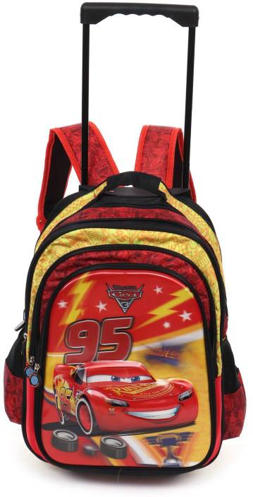 6bab74c4a1e Cars 3 Cars 3 McQueen 95 School Bag 18 inches Trolley School Bag  (Multicolour