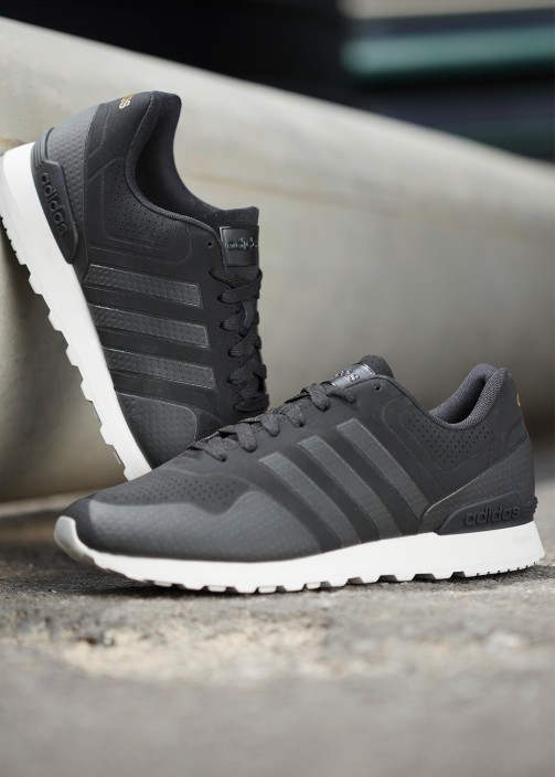 Mens Grey Casual Black Adidas Neo 10k Sneaker Shoes Cheap Athletic