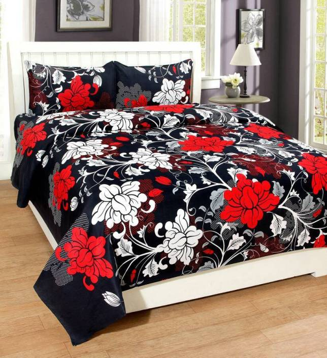 MS NAKHRO Cotton Double Floral Bedsheet