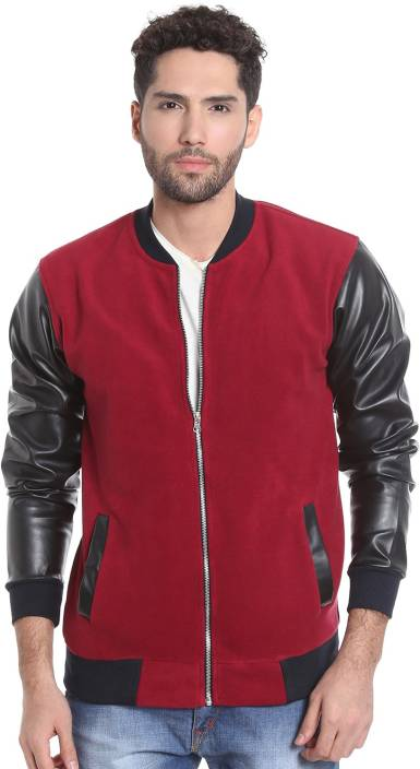 Campus Sutra Full Sleeve Solid Men's Jacket