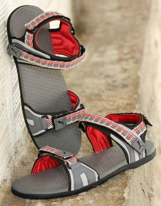 47c7dfbe0da1 Puma Men steel gray-gray violet-high risk red Sports Sandals - Buy steel  gray-gray violet-high risk red Color Puma Men steel gray-gray violet-high  risk red ...