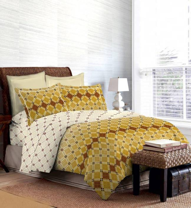 Bombay Dyeing Cotton Printed Double King Bedsheet