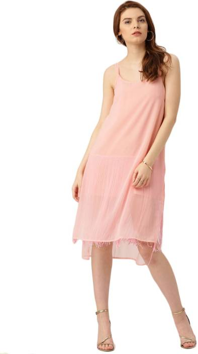 All About You Women A-line Pink Dress