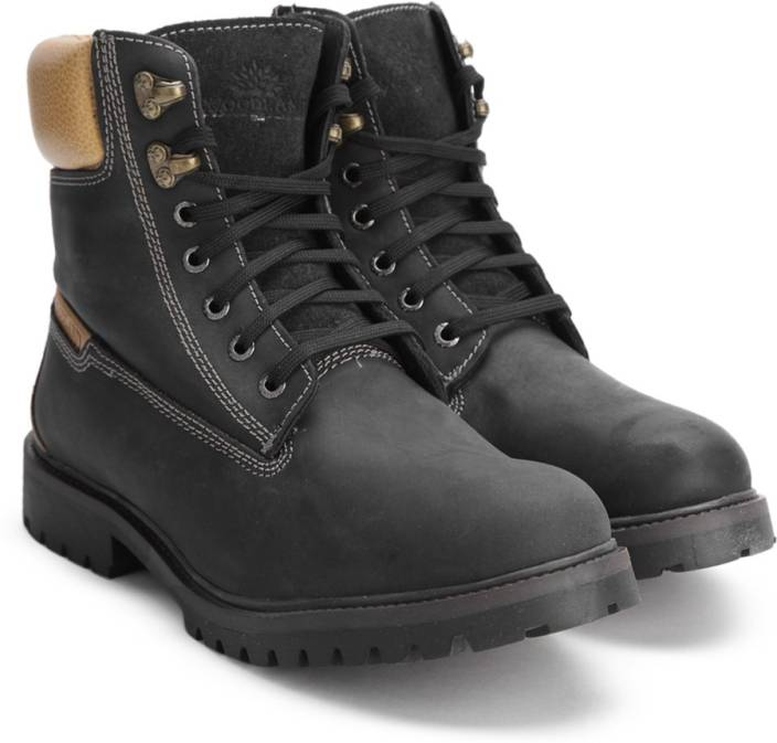 Woodland Leather Boots For Men Buy Black Color Woodland Leather