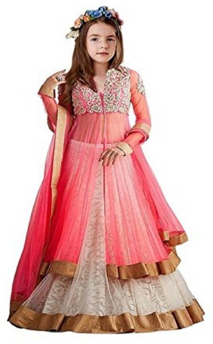 86dfb695423e2 Stylishvilla Baby Girl s Lehenga Choli Ethnic Wear Embroidered Lehenga