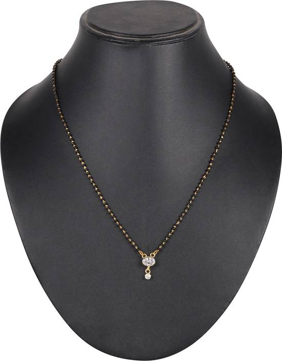 DS Enterprises Solitair Design Alloy Mangalsutra