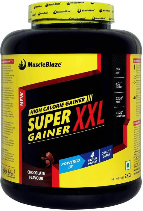 MuscleBlaze Super Gainer XXL Weight Gainers/Mass Gainers  (2 kg, Chocolate)