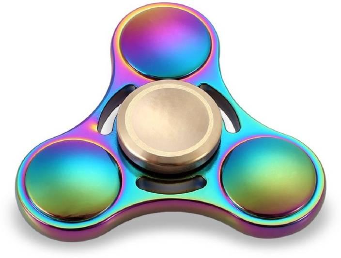 Montez Rainbow Triangle UFO Metal Fidget Spinner Toy