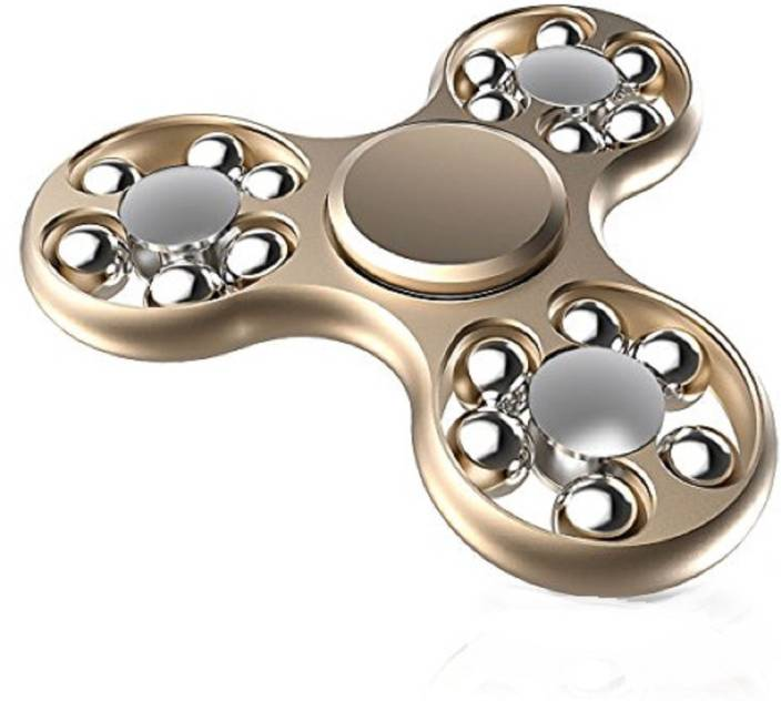 Montez 18 Ball Metal High Speed Fidget Spinner Toy (Gold) (Multicolor)
