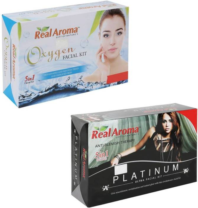 Real Aroma Oxygen Platinum Facial Kit 740 g - Price in India, Buy