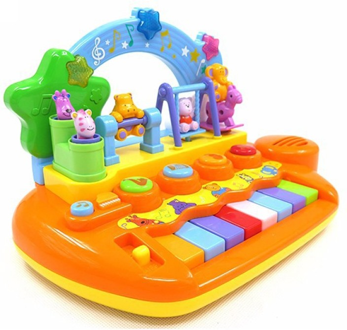 GoAppuGo Baby Piano with Dancing Animals Birthday gift for 1 2 year old musical toys (Multicolor)
