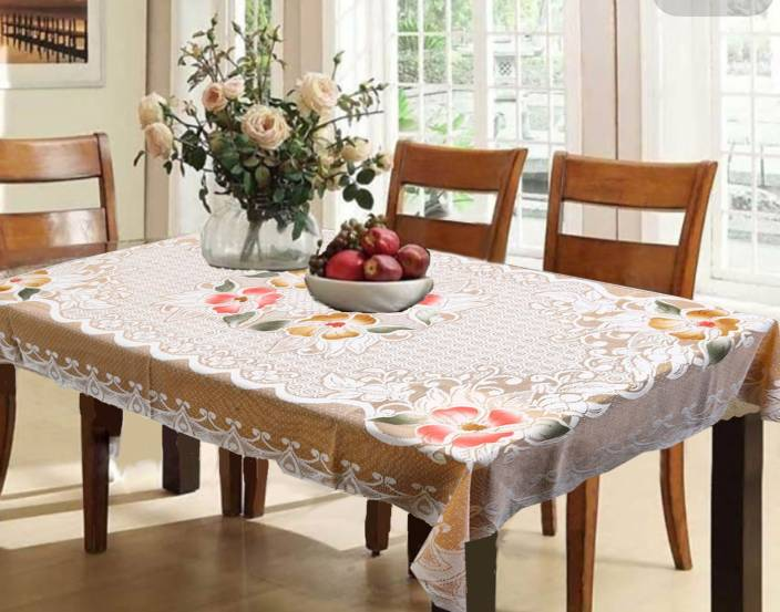 Kuber Industries Printed 6 Seater Table Cover