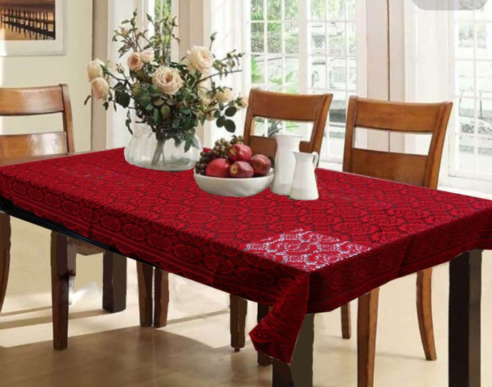 Kuber Industries Printed 6 Seater Table Cover (Maroon Cotton) & Kuber Industries Printed 6 Seater Table Cover - Buy Kuber Industries ...