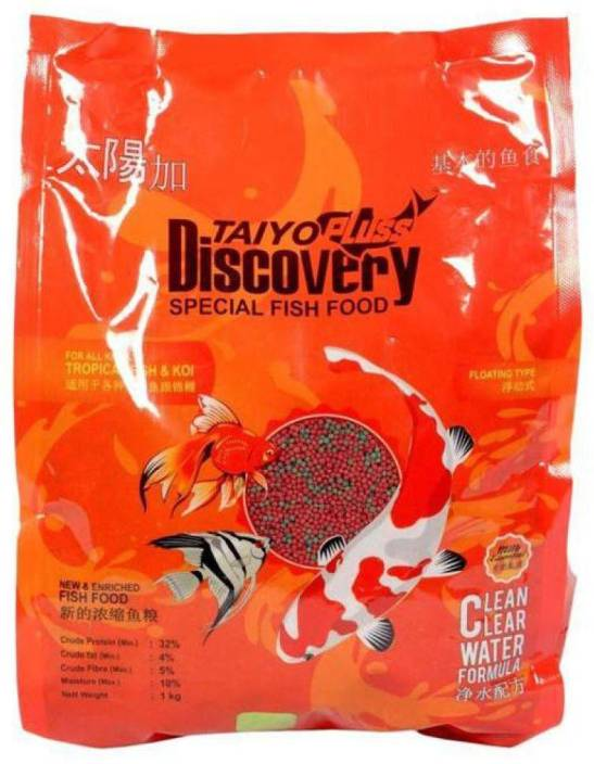 TAIYO PLUSS DISCOVERY 1 KG FISH FOOD Tropical Fruit 1 kg Dry Fish Food