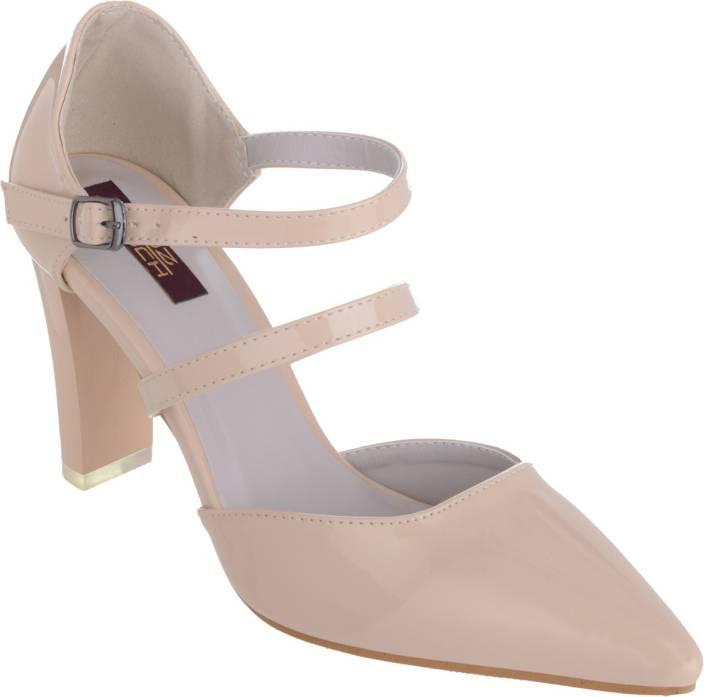 SHUZ TOUCH Women APRICOT Heels   Buy SHUZ TOUCH Women APRICOT Heels Online at Best Price   Shop Online for Footwears in India  K1UTkmU0